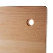 Petite planche à découper en bois avec trou