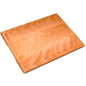 Planche à découper en bois avec égouttoir à jus